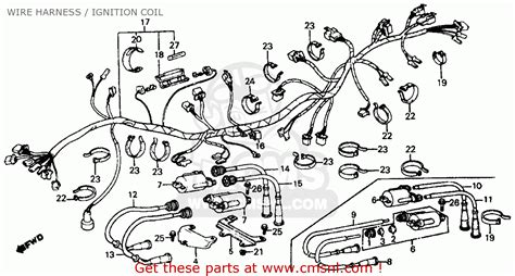 honda vf700c magna 1985 usa wire harness ignition coil schematic partsfiche