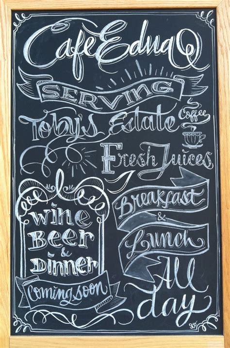 chalkboard ideas chalk design by carolina ro serving toby s estate coffee sign branding cafe coffee