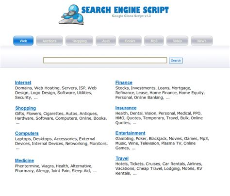 Search Engine Script (google Clone)  Website Scripts