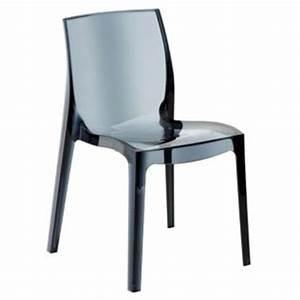 Chaise Transparente Alinea : chaise design transparente grise gris transparent becca chaises alinea ventes pas ~ Teatrodelosmanantiales.com Idées de Décoration