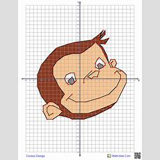 Curious George Graphing Worksheets With Characters Four Quadrant Graphing Puzzles Of Ordered