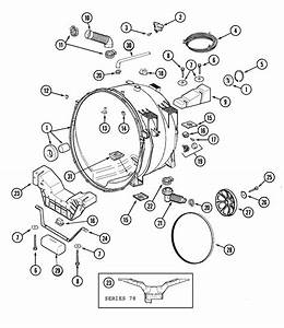 Outer Tub Diagram  U0026 Parts List For Model Mah7500aww Maytag