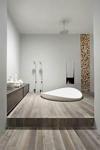 Bois Pour Salle De Bain : id e d co salle de bain bois 40 espaces cosy et chics qui en imposent ~ Melissatoandfro.com Idées de Décoration