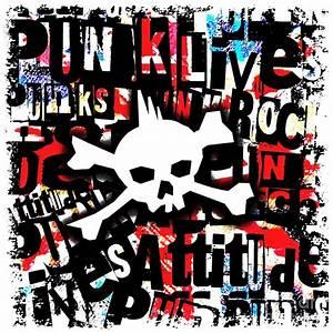 Punk Skull Digital Art by Roseanne Jones