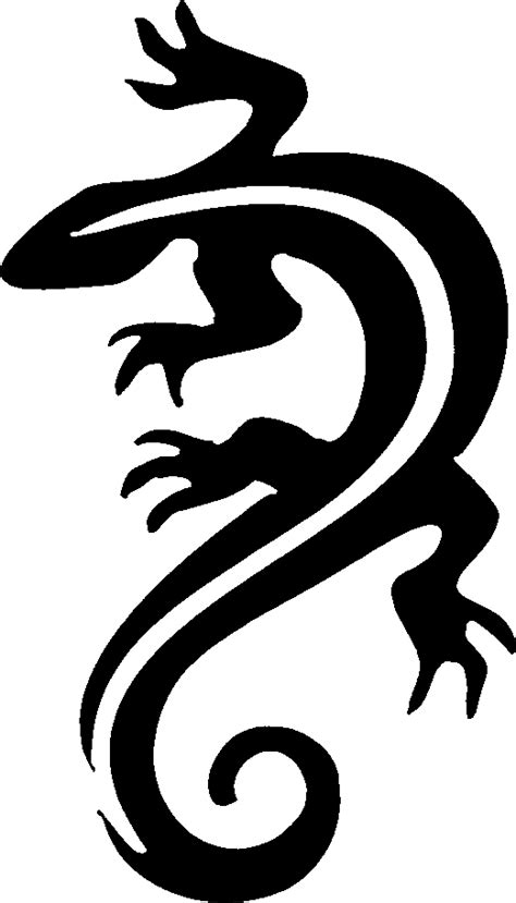 lizard stencil tag body art