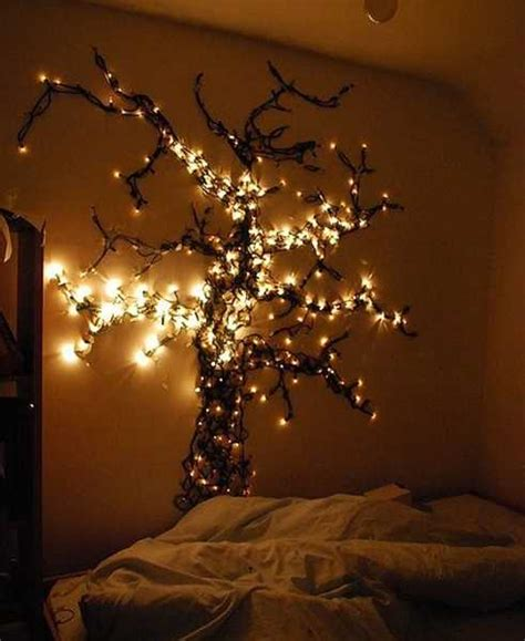 Christmas tree wall you can place anywhere, you just need a little creativity and a few simple items such as driftwood, pine needles, rope lights, stickers, washi tape to a family photo. 24 Modern Interior Decorating Ideas Incorporating Tree Wall Art