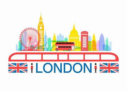 London England Landmarks Clipart Travel Vector Illustration