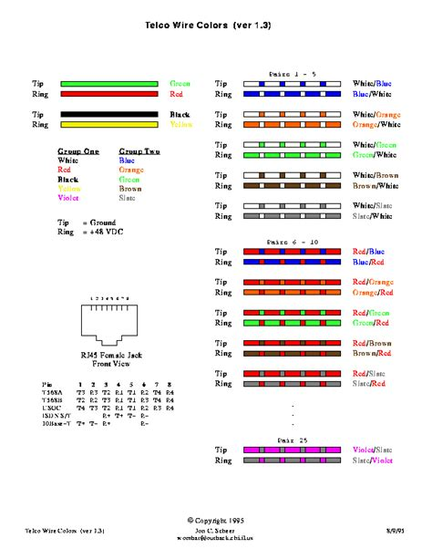 telephone color code pin telephone wiring color codes on