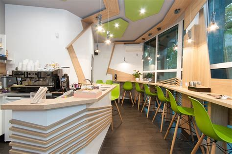 Interior And Exterior Design For Small Cafe In Burgas