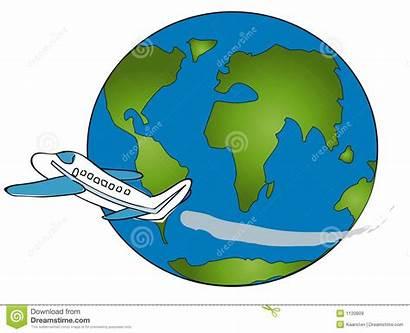 Around Clipart Plane Clip Travel Trip Airplane