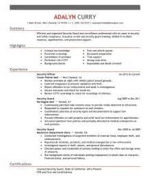 resume exles word file resume security officer eagle security officer sle resume doc resume security officer duties