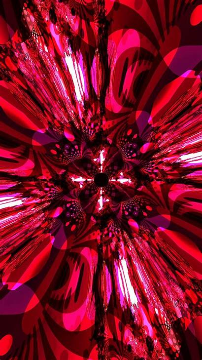 Fractal Abstraction Pattern Glow Bright 6s Parallax