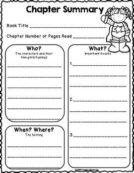we are super readers chapter summary worksheets and