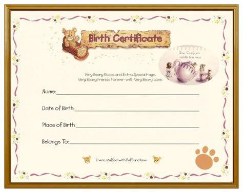 Birth Certificate Template Blank Birth Certificate Template Mughals