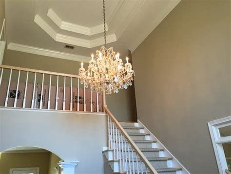 2 story foyer chandelier what is the best size for a chandelier in a two story