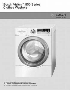 Bosch Aquastop 800 Series Operating  U0026 Installation Manual