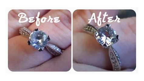 quick tip how to make your engagement ring really sparkle cheap easy effective youtube