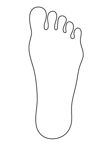 foot pattern   printable outline  crafts
