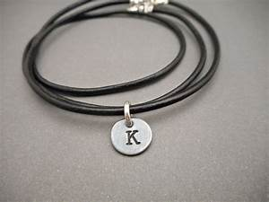mens necklace initial necklace initial jewelry With letter necklace for guys