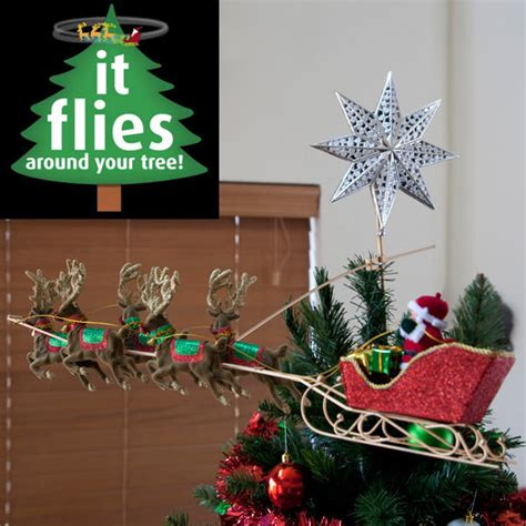 peters flying santa revolving tree ornament