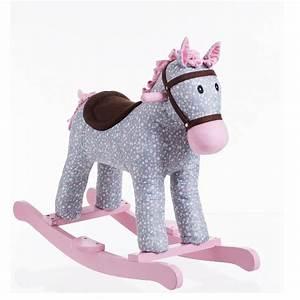 Cheval A Bascule Rose : petit cheval gris bascule en bois maison fut e ~ Teatrodelosmanantiales.com Idées de Décoration
