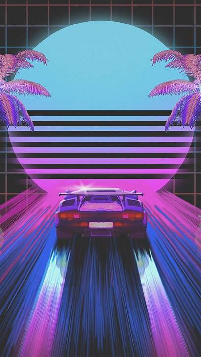 80s Neon Retro Aesthetic Iphone Miami Computer