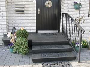 Außen Treppenstufen Beton : eingangstreppe au en neu gestalten und planen mit granit ~ Michelbontemps.com Haus und Dekorationen