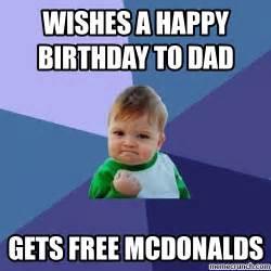 Dad Birthday Meme - wishes a happy birthday to dad