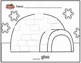 Igloo Letter Template Coloring Preschool Activities Worksheets Architecture Lesson Printable Buildings Coloriage Alphabet Plans Worksheet Colouring Coloriages Imprimer Largement Whole sketch template