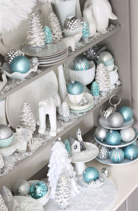 blue and white christmas decor 35 frosty blue and white christmas d 233 cor ideas digsdigs