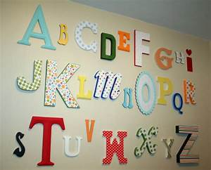 alphabet nursery room decor with wall letters With abc letters for wall