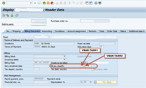 sap tax category table how to use the alternative tax classification in sales