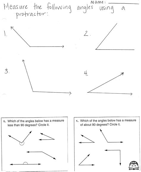 worksheet measuring angles with a protractor worksheet