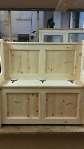 Storage Bench 40 Inches Wide by 36 Inch Wide Church Pew Monks Bench With Storage Ebay