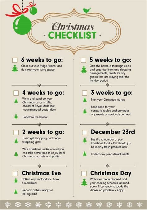 christmas checklist the 6 week countdown wren kitchens