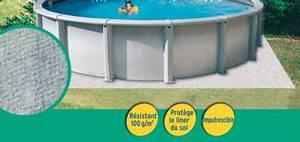 tapis de sol pour piscine o5 m castorama With tapis de sol sous piscine hors sol