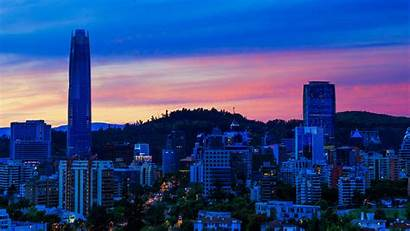 Santiago Chile Wallpapers Wallpapersplanet Skyscrapers Cities Evening