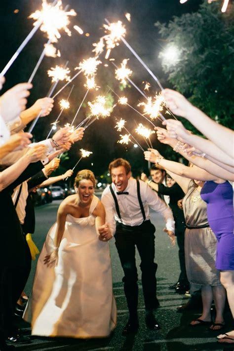 sparkler wedding exit send  ideas page