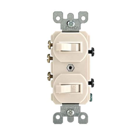 Leviton Amp Way Combination Double Switch Light