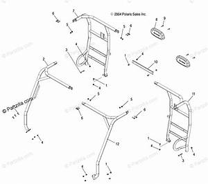 Polaris Side By Side 2005 Oem Parts Diagram For Frame  Cab
