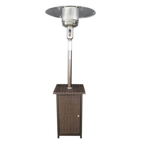 homcomfort 41 000 btu gas patio heater with wicker stand