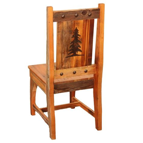 rustic kitchen furniture side chair country rustic wood log cabin kitchen