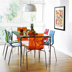 17 best images about clear and coloured acrylic chairs on for Deco cuisine avec chaise couleur salle a manger