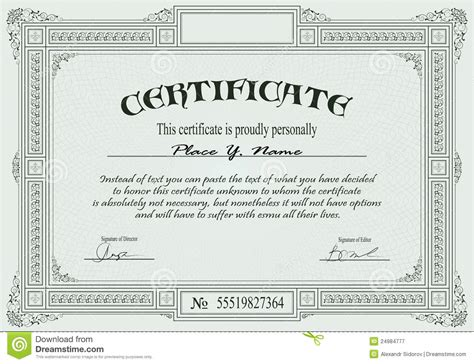 certificate template royalty  stock photography