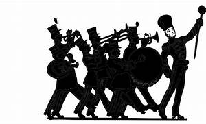 Marching Band Black On White Clip Art at Clker.com ...