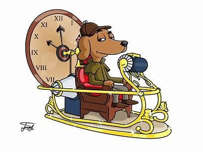 Machine Cartoon Clipart Zeitmaschine Masa Today Yesterday