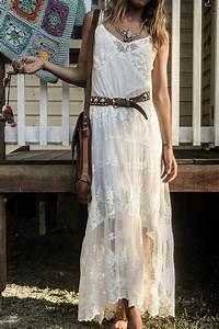 Robe Style Boheme : robe longue blanche boheme ~ Dallasstarsshop.com Idées de Décoration