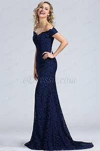 edressit blue off shoulder lace prom dress 00171905 With robe de cocktail combiné avec pandora boutique solde