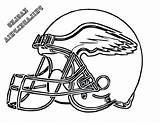 Coloring Helmet Eagles Pages Philadelphia Football Helmets Nfl Goalie Printable Mask Drawing Clipart Cowboys Drawings Template Logos College Hockey Cliparts sketch template