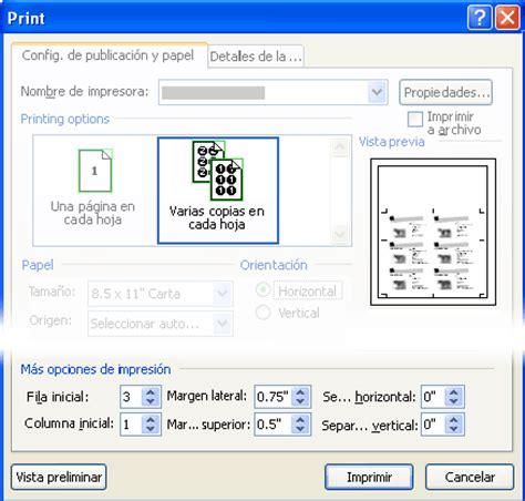 Como Trabajr Con Template En La Compu by Imprimir Etiquetas Tarjetas Postales Tarjetas De